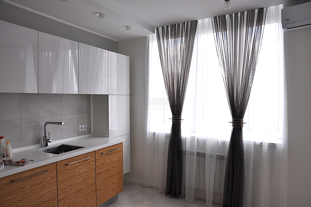 Классические шторы для кухни ул.Ахматовой