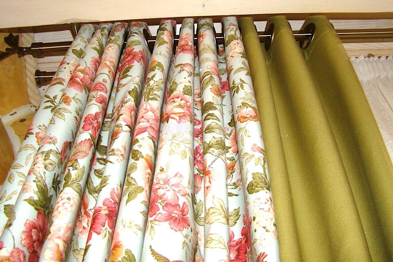 Классические шторы для кухни с.Процев