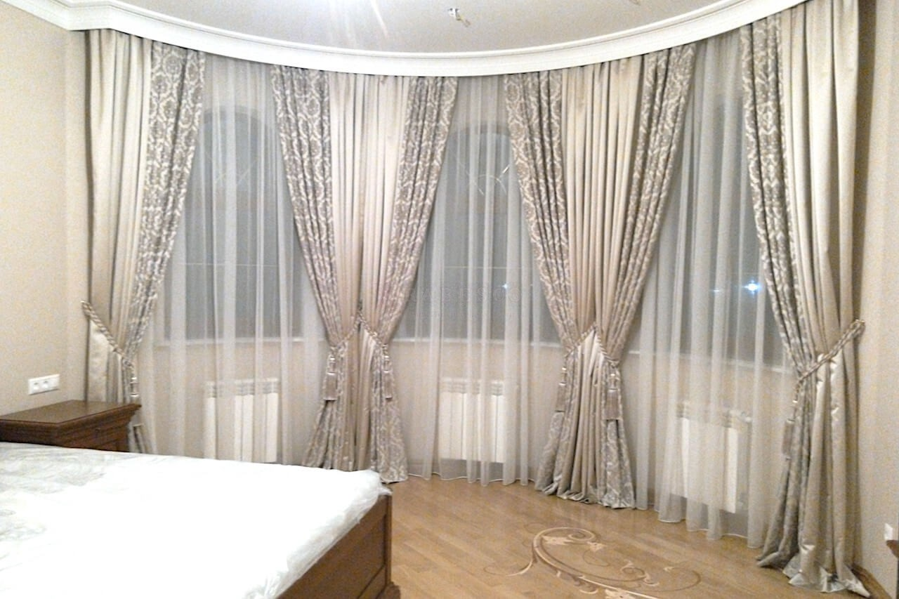 Классические шторы для спальни с.Петровское