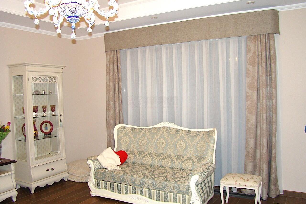 Классические шторы для гостиной Софиевская Борщаговка