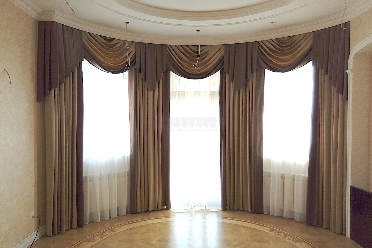 Классические шторы для гостиной с.Петровское