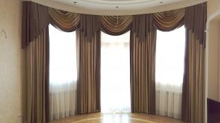 Класичні штори для вітальні с.Петрівське