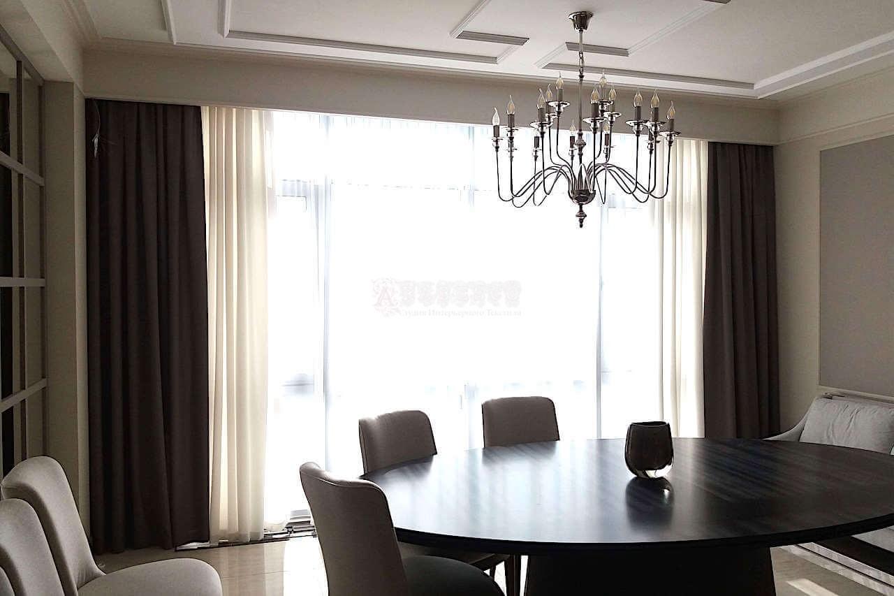 Класичні штори для вітальні Дарницький бульвар