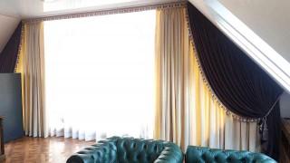 Классические шторы для кабинета на ул.Вышгородская