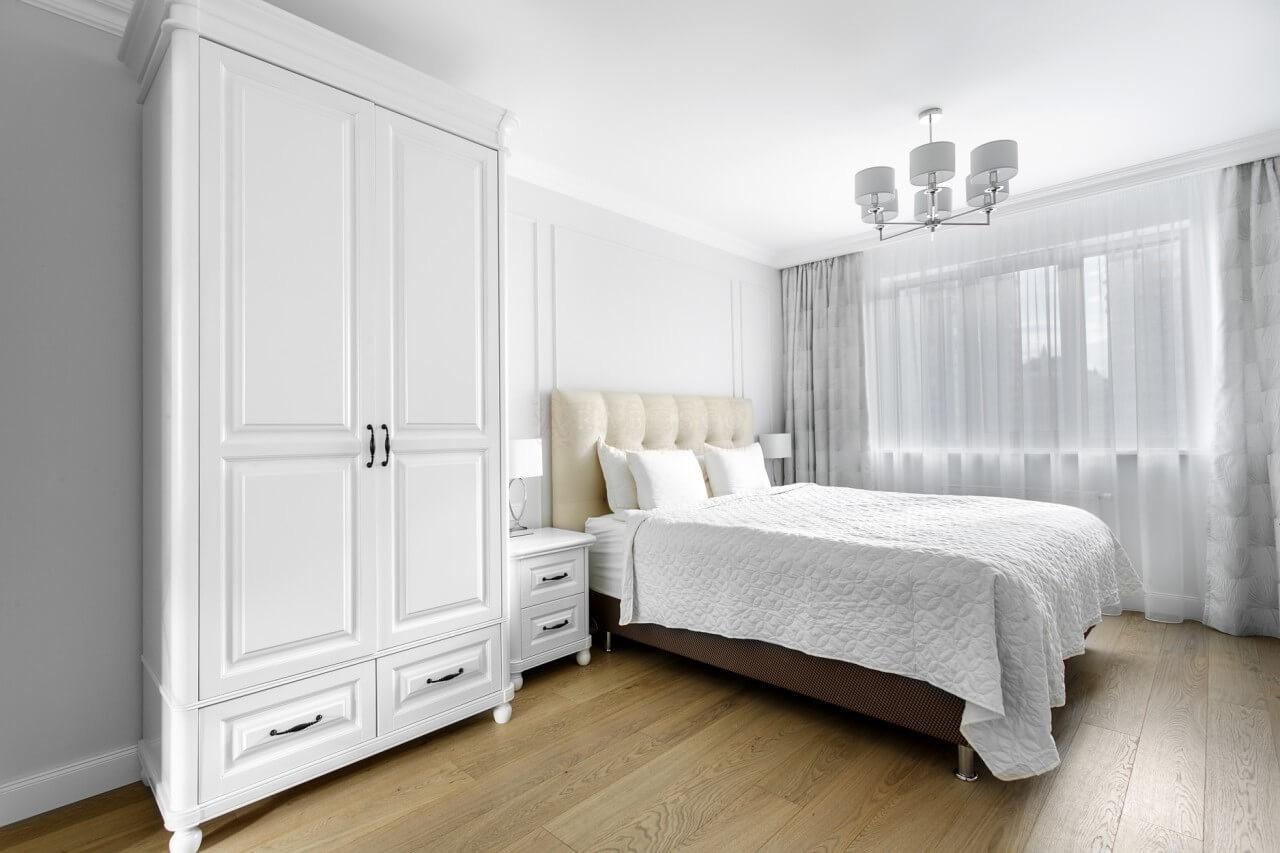 Класичні штори для спальні в ЖК Obolon Residence