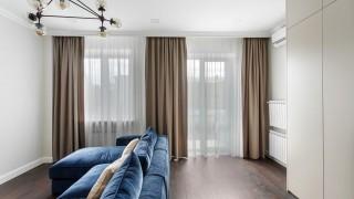 Класичні штори для вітальні на вул.Інститутській