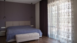 Класичні штори для спальні передмістя Києва (Броварський р-н)