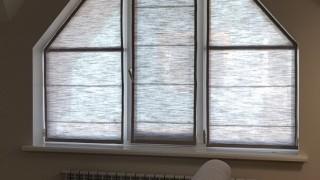 Нестандартные Римские шторы для кухни-гостиной пгт Гатне