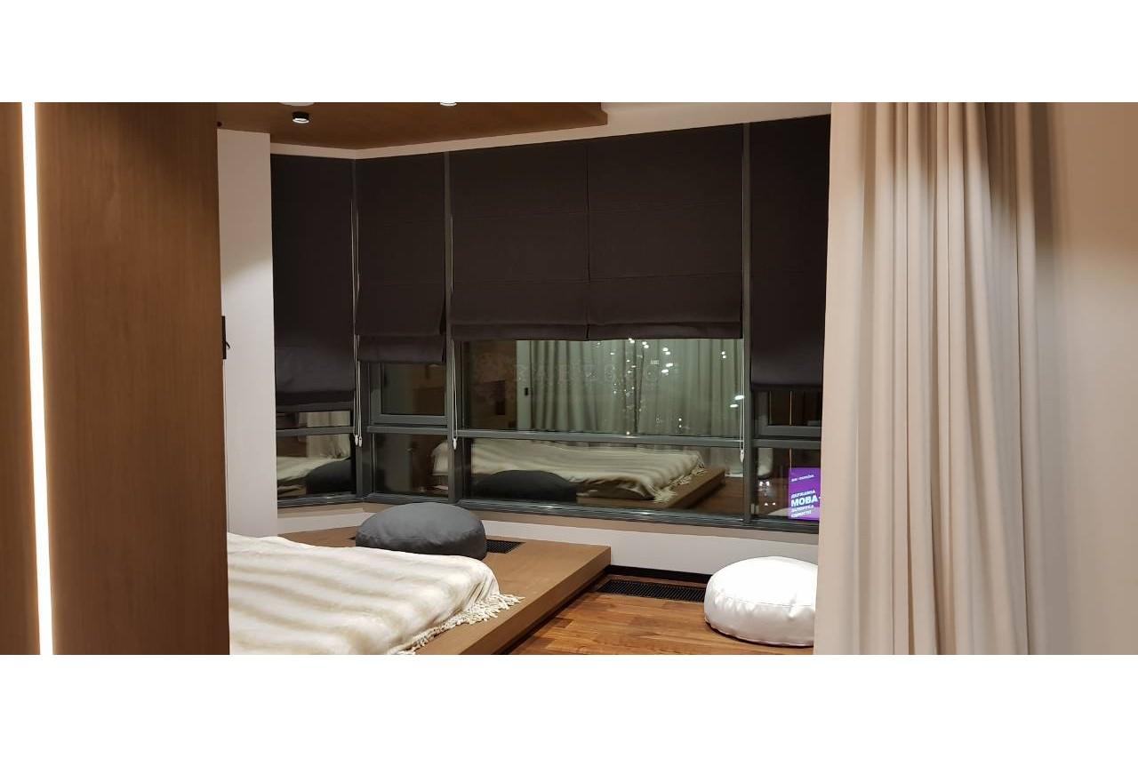 Римские и классические шторы для квартиры студия ЖК PecherskSky