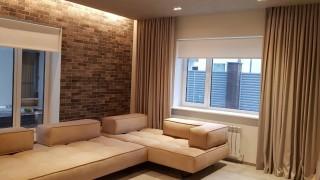 Класичні і рулонні штори для вітальні смт Гостомель